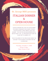 Italian Dinner and Open House
