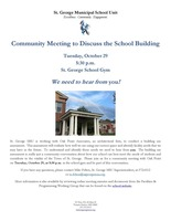 Community Meeting to Discuss the School Building