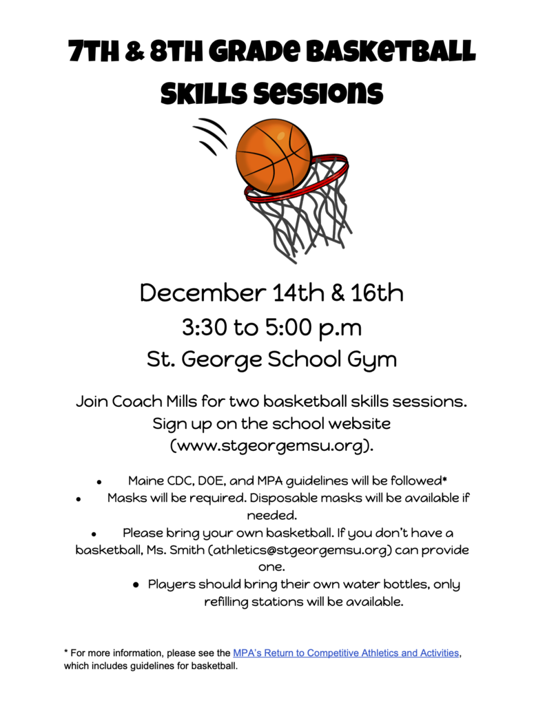 Basketball Skills Session Flyer
