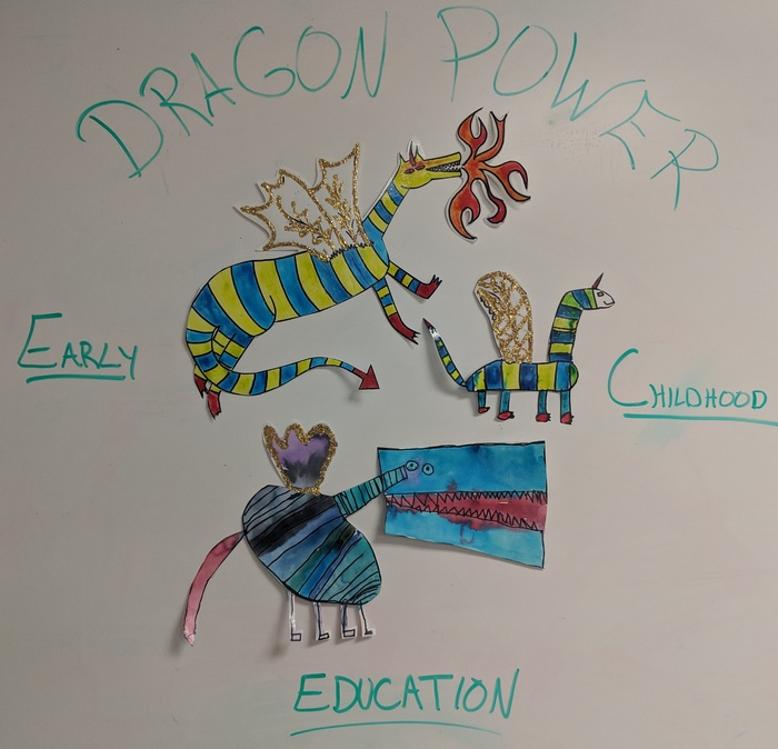 Picture of dragons drawn by St. George School students