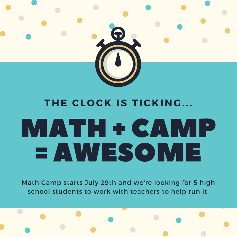 Flyer for Math Camp at St. George MSU