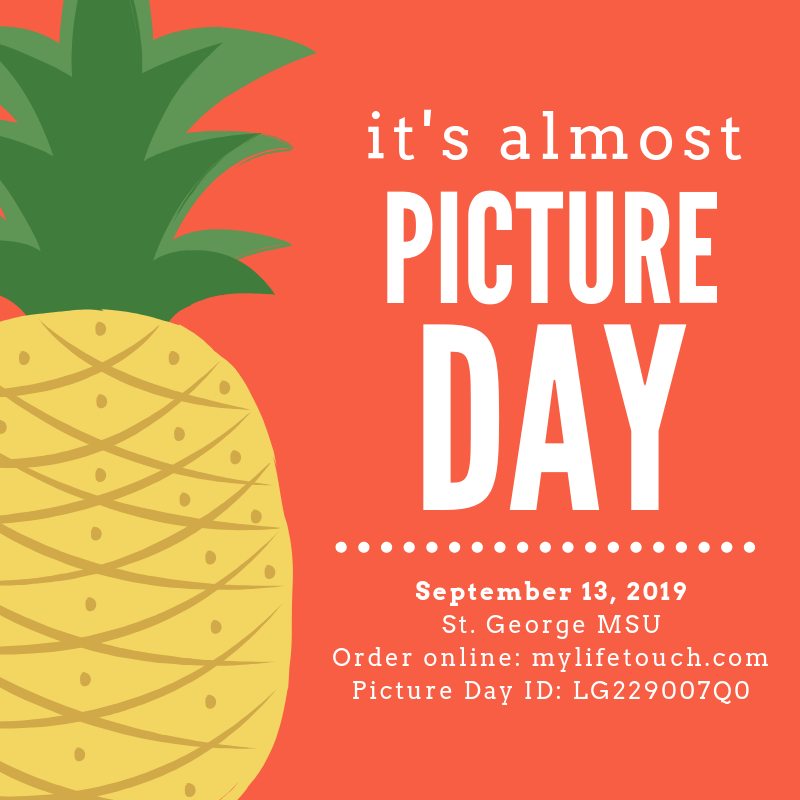 Flyer for picture day at St. George School, Friday, Sept. 13, 2019.