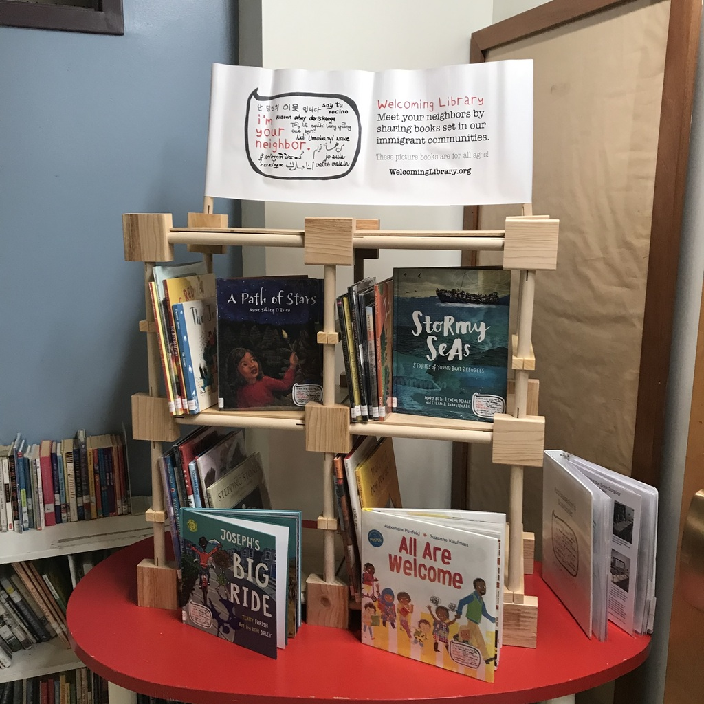 Welcoming library on display.