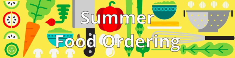 Summer Food Order graphic