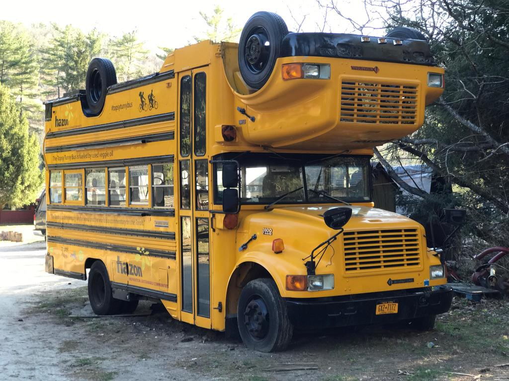 A very strange school bus